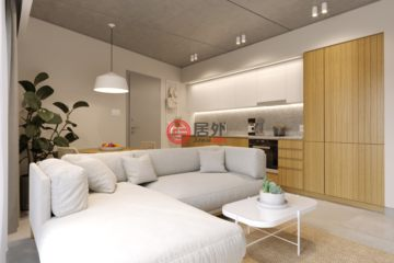 居外网在售塞浦路斯1卧1卫新开发的房产总占地519平方米EUR 131,560