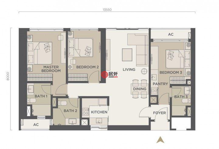 马来西亚吉隆坡的房产,Bukit Bintang,编号44147734