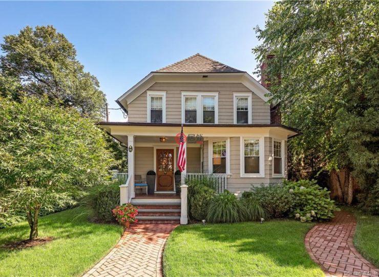 美国康涅狄格格林威治4卧4卫的房产妹呆别墅图片