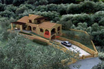 居外网在售希腊4卧3卫特别设计建筑的房产总占地2225平方米EUR 210,000