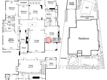 澳大利亚维多利亚州Toorak的房产,27 Montalto Avenue,编号47707579