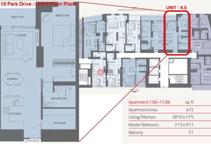 英国英格兰伦敦的房产,10 Park Drive,编号47971353