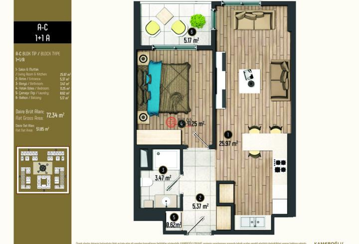 土耳其伊斯坦布尔伊斯坦布尔的房产,Cumhuriyet, Derviş Eroğlu Cd., 34520,编号52948816