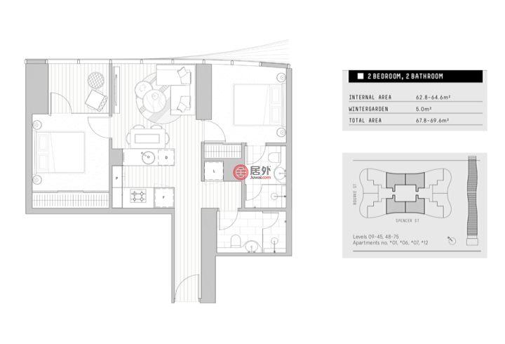 澳大利亚维多利亚州墨尔本的房产,4112/160 Spencer Street,编号51133290