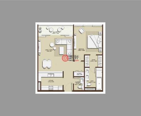 阿联酋迪拜迪拜的公寓,迪拜山庄,编号56349521