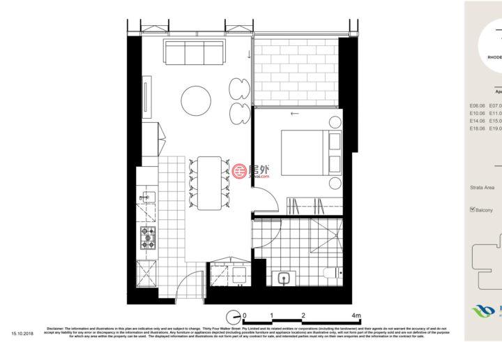 澳大利亚新南威尔士州悉尼的房产,6-10 Walker St,编号53698706