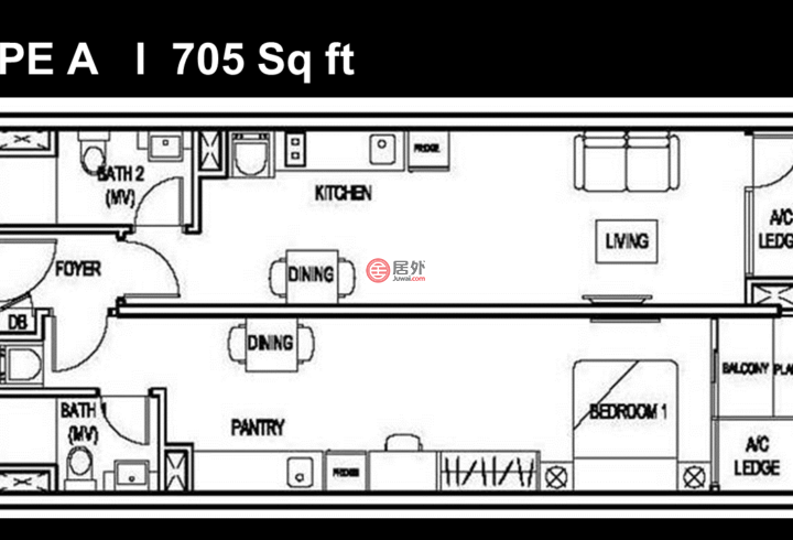 马来西亚Kuala Lumpur吉隆坡的房产,THE COLONY & LUXE, Jalan Dewan Sultan Sulaiman,编号51040130