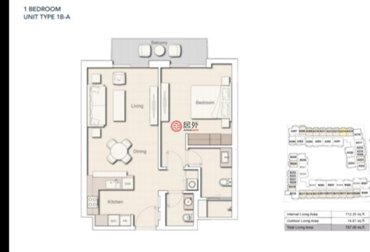 阿联酋迪拜迪拜的房产,1st street,编号49214112