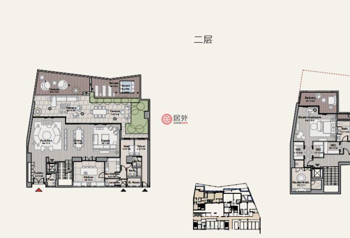 阿联酋迪拜迪拜的房产,BVLGARI MARINA LOFTS,编号51542426