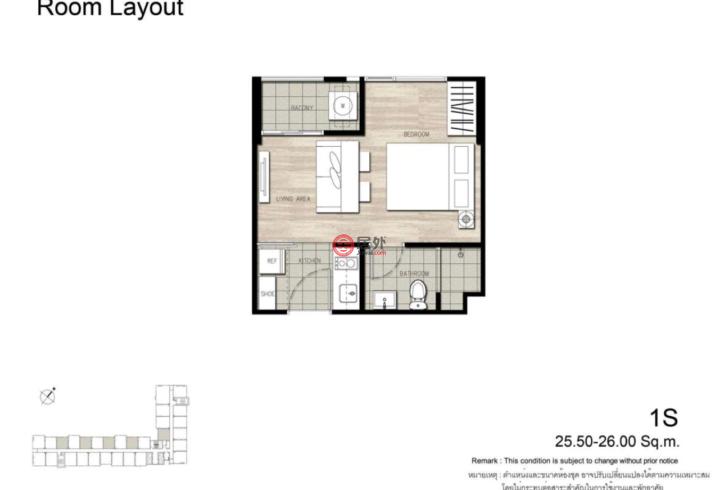 泰国Bangkok曼谷的房产,The Base Rama 9公寓,编号15474325