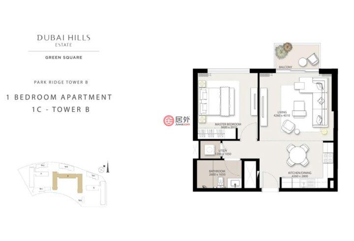 阿联酋迪拜迪拜的公寓,迪拜山庄,编号54509000