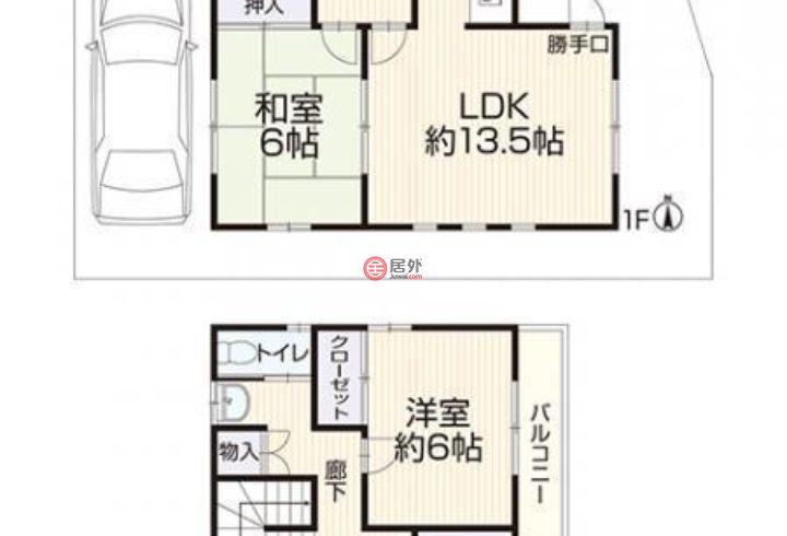 日本的房产,京都市伏見区桃山町大島25-117,编号45404929