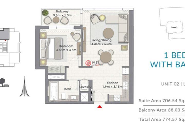 阿联酋迪拜迪拜的房产,云溪岛,编号54986618